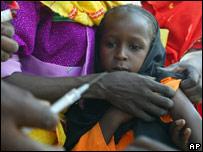 Campaña de vacunación en África