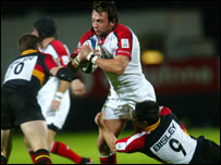 Neil Best's try restored Ulster's lead for a brief time in the match