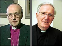 Archbishop Hope (L) and Cardinal Murphy O'Connor (R)