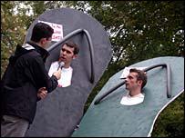 Pro-Bush students