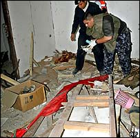 Destroyed DFLP office in Gaza