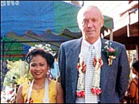 Ken Bigley with his wife Sombat in Thailand