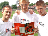 Michael Owen, Sami Hyypia and Steven Gerrard back Sport Relief's campaign