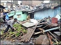 A Bombay slum