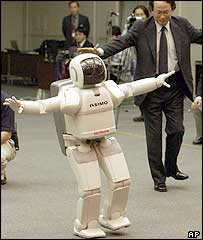 Asimo dances in Japan