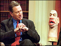 Michael Portillo with Spitting Image puppet