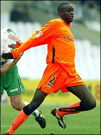 Mali's Mohammed Sissoko in action for Spanish side Valencia