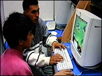 Julio, a 15 year old street child from Buenos Aires, explains a game to a friend. Picture: Centre for Media Studies