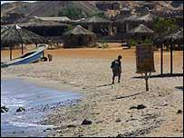 View of the Ras al-Shitan beach