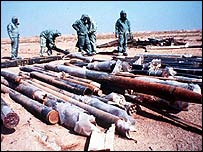 Rockets filled with sarin in Iraq after the Gulf War