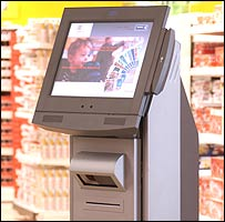 infoterminal at Metro Future Store