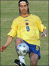 Colombia striker Juan Pablo Angel