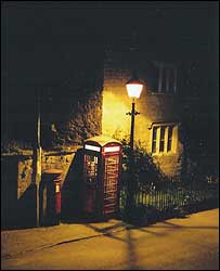 Traditional lamppost in Hinton St George