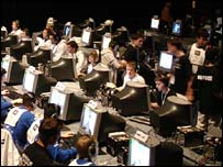 Shot of entrants in the World Cyber Games