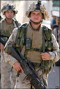 US marines in Kharma, near Falluja, on 17 May 2004