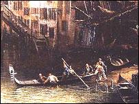 Góndola vista por el pintor Canaletto