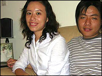 Jeff Qiang (right) and his fiancée Ada