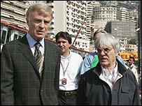 Max Mosley and Bernie Ecclestone