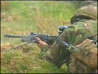 Soldier training in mid-Wales