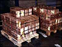 £40m pounds worth of gold bullion