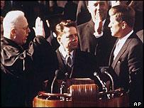 John F Kennedy's 1961 inauguration