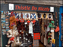 Tourist shop in Edinburgh - Thistle do nicely
