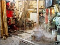 Yukos oil rig in Siberia