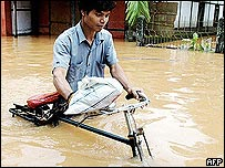 Floodwaters in Assam