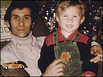 Barry Welch as a child with his stepfather Roger Bugby
