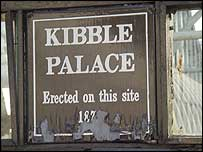 Kibble Palace sign