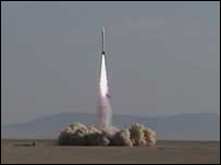 One of the GoFast rocket's previous attempts to blast into space