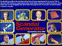 Comedy Central's Scandal Generator