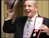 Sir Norman receives his knighthood
