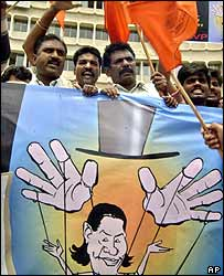 Anti-Sonia Gandhi protest