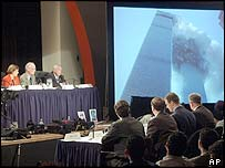 9/11 commission hearing in New York