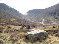 Mourne Mountains area