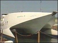 A SpeedFerries catamaran
