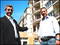 Tim Johnston and his friend Alistair Reynette-Smith