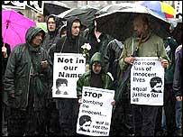 Protestors on London streets against war in Iraq