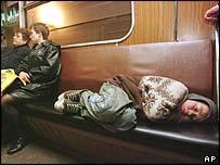 Бездомный ребенок на Украине