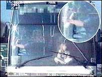 Police image of the girl on Jack Webb's dashboard