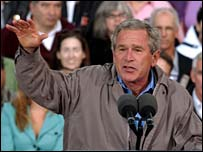 George Bush at rally in Colorado