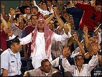 Sakhnin fans celebrate victory