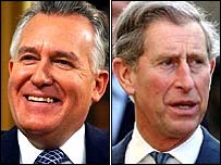 Peter Hain and Prince Charles