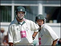 Graeme Hick and Ben Smith