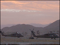 US helicopters in Khost