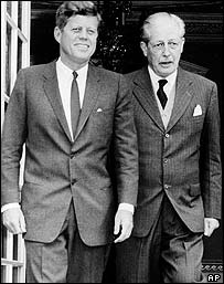 John Kennedy and Harold Macmillan