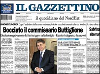Il Gazzettino newspaper front page