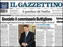 Il Gazzettino newspaper front page