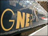 GNER train carriage, BBC